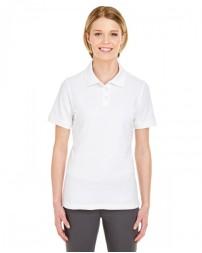 7510L Ladies' Platinum Honeycomb Piqué Polo - UltraClub Women Polo Shirts