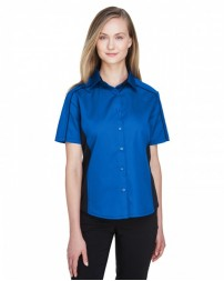 77042 Ladies' Fuse Colorblock Twill Shirt - North End Women Shirts
