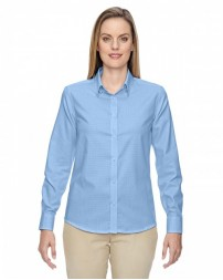 77043 Ladies' Paramount Wrinkle-Resistant Cotton Blend Twill Checkered Shirt - North End Women Shirts