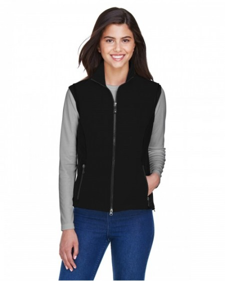 78050 Ladies' Three-Layer Light Bonded Performance Soft Shell Vest - North End Womens Vests