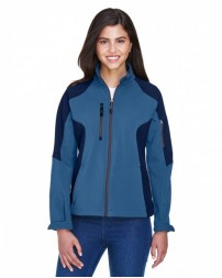 78077 Ladies' Compass Colorblock Three-Layer Fleece Bonded Soft Shell Jacket - North End Women Jackets
