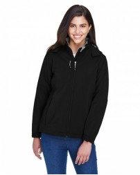 78080 Ladies' Glacier Insulated Three-Layer Fleece Bonded Soft Shell Jacket with Detachable Hood - North End Womens Jackets