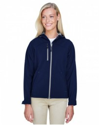 78166 Ladies' Prospect Two-Layer Fleece Bonded Soft Shell Hooded Jacket - North End Womens Jackets