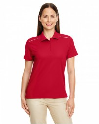 78181R Ladies' Radiant Performance Piqué Polo with Reflective Piping - Core 365 Women Polo Shirts