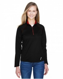 78187 Ladies' Radar Quarter-Zip Performance Long-Sleeve Top - North End Womens Sweatshirts