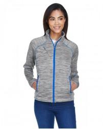 78697 Ladies' Flux Mélange Bonded Fleece Jacket - North End Jackets