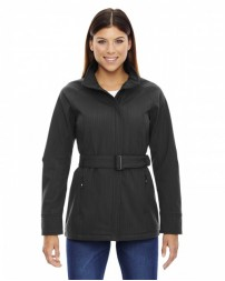 78801 Ladies' Skyscape Three-Layer Textured Two-Tone Soft Shell Jacket - North End Caps