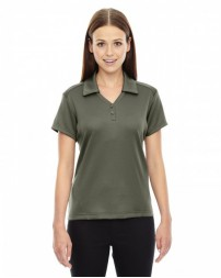 78803 Ladies' Exhilarate Coffee Charcoal Performance Polo with Back Pocket - North End Women Polo Shirts