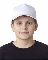 8120Y Youth Classic Cut Cotton Twill 5-Panel Cap - UltraClub Caps