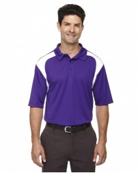 85105 Men's Eperformance™ Colorblock Textured Polo - Extreme Mens Polo Shirts
