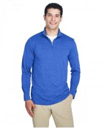 8618 Men's Cool & Dry Heathered Performance Quarter-Zip - UltraClub Mens Sweatshirts
