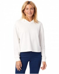 Ladies' Burnout French Terry Cropped Hooded Sweatshirt