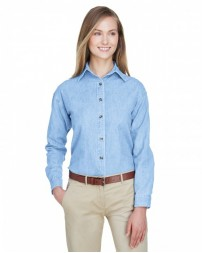 8966 Ladies' Cypress Denim - UltraClub Women Woven Shirts