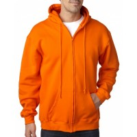 Adult  9.5oz., 80% cotton/20% polyester Full-Zip Hooded Sweatshirt