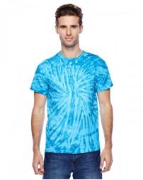CD110 Adult 100% Cotton Twist Tie-Dyed T-Shirt - Tie-Dye Cotton T Shirts