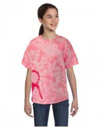 CD1150Y Youth Pink Ribbon T-Shirt - Tie-Dye T Shirts