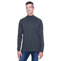 Adult Sueded Cotton Jersey Mock Turtleneck