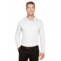 CrownLux Performance™ Men's Plaited Long Sleeve Polo