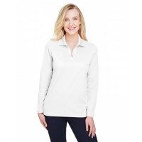 CrownLux Performance™ Ladies' Plaited Long Sleeve Polo