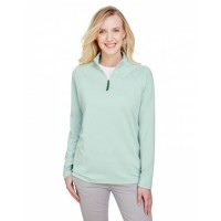 CrownLux Performance™ Ladies' Clubhouse Micro-Stripe Quarter-Zip