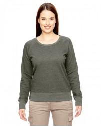 EC4505 Ladies' 7 oz. Organic/Recycled Heathered Fleece Raglan Pullover - econscious Raglan Shirts