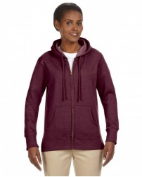 EC4580 Ladies' Organic/Recycled Heathered Fleece Full-Zip Hooded Sweatshirt - econscious Hooded Sweatshirts