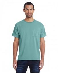 GDH150 Unisex 5.5 oz., 100% Ringspun Cotton Garment-Dyed T-Shirt with Pocket - ComfortWash by Hanes Cotton T Shirts
