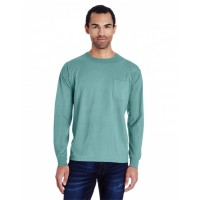 Unisex 5.5 oz., 100% Ringspun Cotton Garment-Dyed Long-Sleeve T-Shirt with Pocket