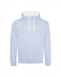 JHA003 Adult 80/20 Midweight Varsity Contrast Hooded Sweatshirt - Just Hoods By AWDis Hooded Sweatshirts