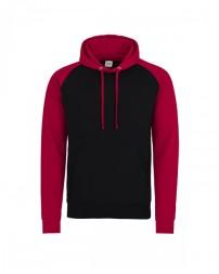 JHA009 Adult 80/20 Midweight Contrast Baseball Hooded Sweatshirt - Just Hoods By AWDis Hooded Sweatshirts