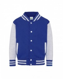 JHY043 Youth 80/20 Heavyweight Letterman Jacket - Just Hoods By AWDis Jackets