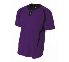 2-Button Color Blocked Jersey