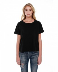 ST1017 Ladies' 3.5 oz., 100% Cotton Raw-Neck Boxy T-Shirt - StarTee Drop Ship Womens T Shirts