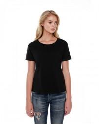 ST1018 Ladies' 3.5 oz., 100% Cotton Boxy High Low T-Shirt - StarTee Drop Ship Womens T Shirts