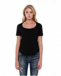 ST1019 Ladies' 3.5 oz., 100% Cotton U-Neck T-Shirt - StarTee Drop Ship Womens T Shirts