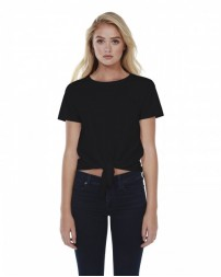 ST1026 Ladies' Cotton Tie Front T-Shirt - StarTee Drop Ship Womens T Shirts