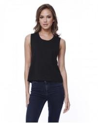 ST1151 Ladies' Cotton Muscle Crop T-Shirt - StarTee Drop Ship Womens T Shirts