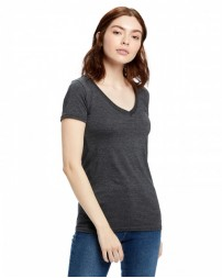 US120 Ladies' Made in USA Short-Sleeve V-Neck T-Shirt - US Blanks Womens T Shirts