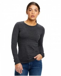 US190 Ladies' 4.3 oz. Long-Sleeve Crewneck - US Blanks Womens T Shirts