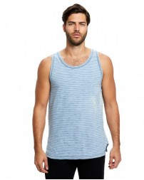 US2054 Men's Indigo Striped Tank - US Blanks Mens T Shirts