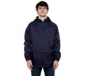 Unisex Nylon Packable Pullover Anorak Jacket